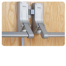 Briton Double Rebated Door Panic Set